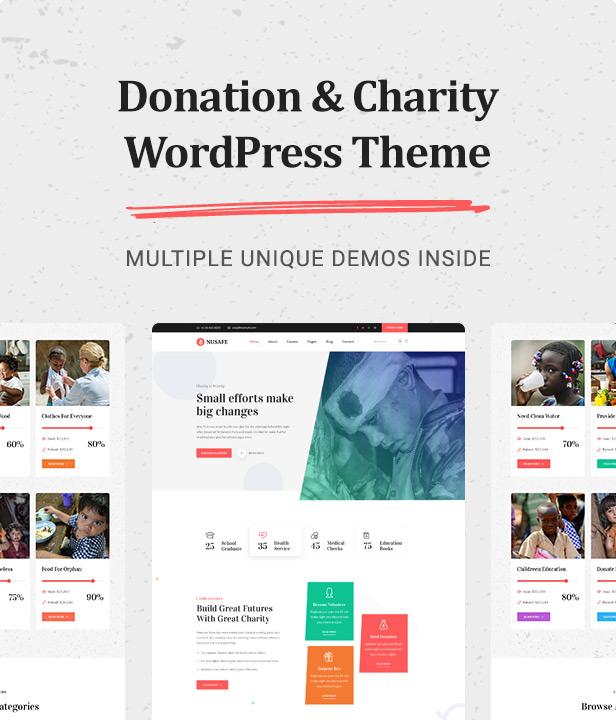 theme Nusafe | Responsive WordPress Theme for Donation & Charity theme WordPress