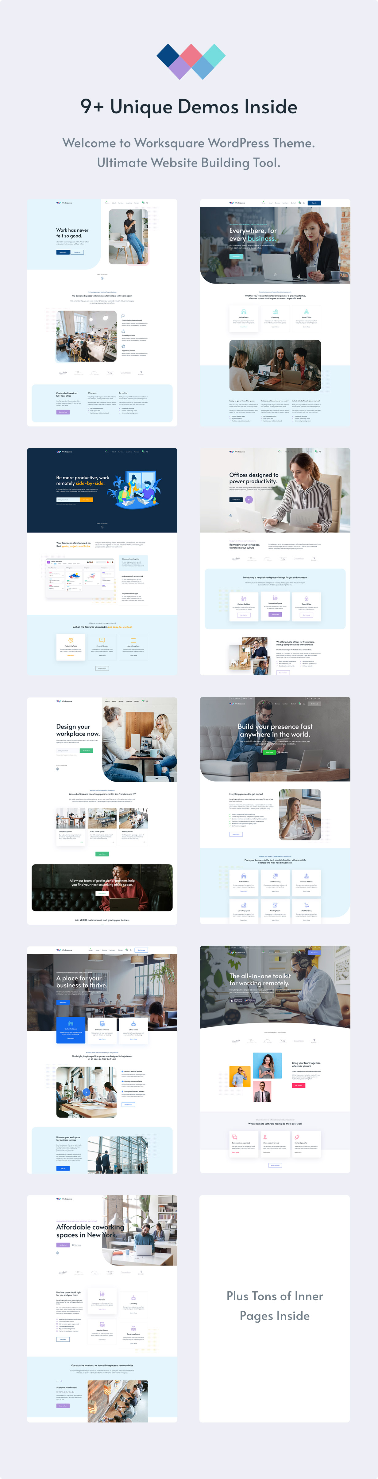Worksquare - Coworking and Office Space WordPress Theme - 4